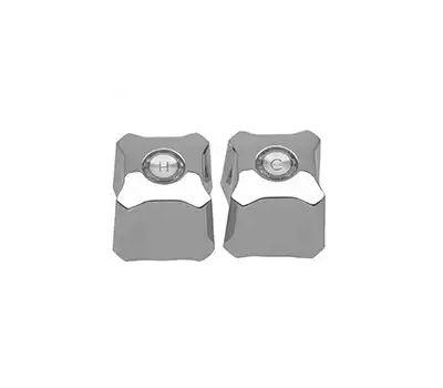 Danco 88768 Faucet Handle, Zinc, Chrome, for: Kohler Trend Two-Handle Tub/Shower Faucets