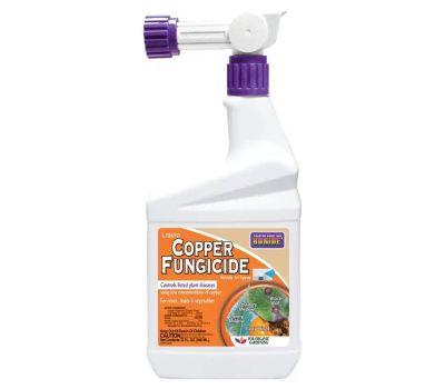 Bonide 814 Copper Fungicide, Liquid, Acid, Blue, 1 Qt