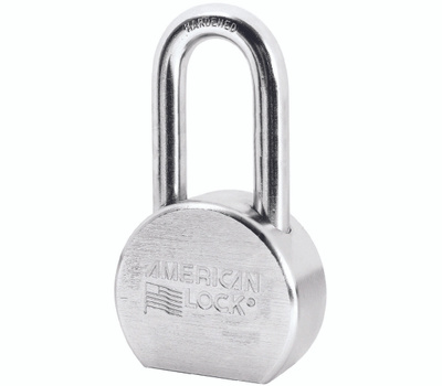 Master Lock A701D American Lock Shackle 2 Inch Chrome Plated Steel