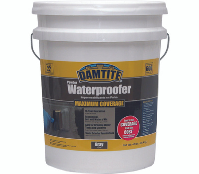 Damtite 02451 Foundation Waterproofer Gray 45 Pound