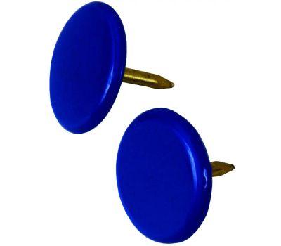 Hillman 122678 Thumb Tacks 5/16 Inch Head By 3/8 Inch Depth Blue 40 Pack