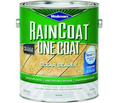 Wolman 12386 Raincoat Raincoat Clear Water Repellant Gallon Oil Based