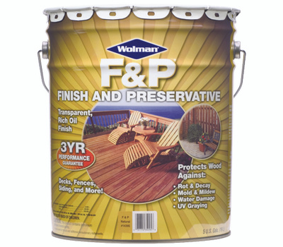 Wolman 14405 F & P Redwood F&P Finish And Preservative 5 Gallon Oil Based
