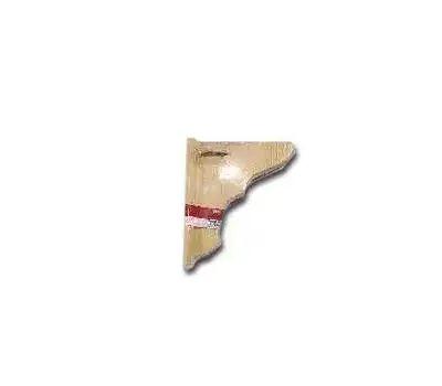 Waddell 1350 Pine Shelf Bracket With Backplate 4 By 6 Inch