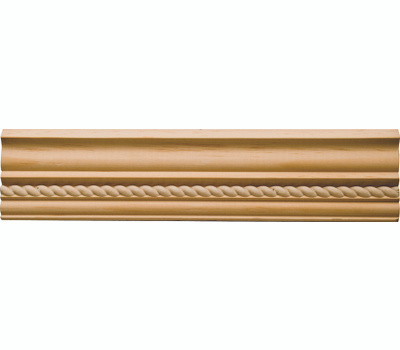 Waddell MLD354 Rope Pattern Crown Moulding 2-3/4 by 96 Inch Pine Wood