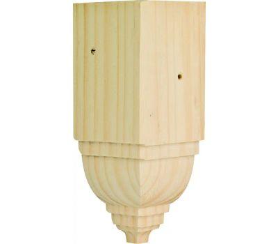 Waddell ICTB-52 Inside Corner Trim Block 6-3/4 By 3-1/4 By 3-1/4 Inch Pine