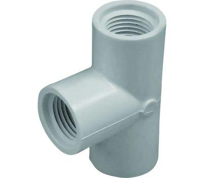 Lasco Fittings 35455 1/2 Inch PVC Female Tee Fip X Fip X Fip