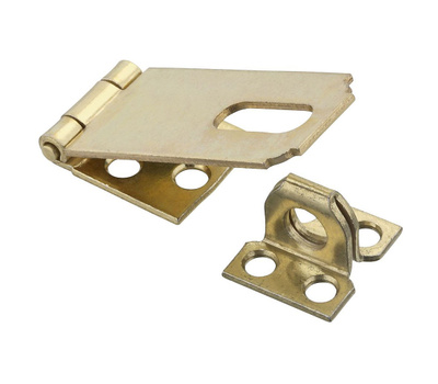 National Hardware N102-178 Safety Hasp 2-1/2 Inch Dull Brass Plated Steel