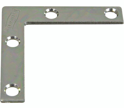 National Hardware N266-486 Flat Corner Iron Brace 2 By 3/8 By 0.07 Inch Zinc Plated Steel Bulk