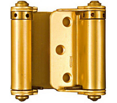 National Hardware N115-303 Double Acting Spring Hinges 3 Inch Dull Brass Finish 2 Pack
