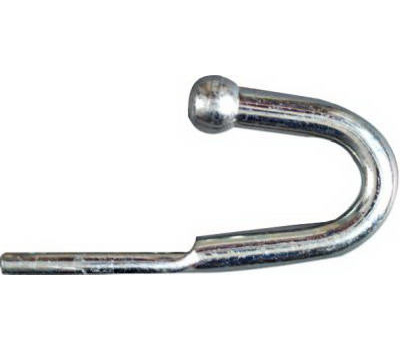 National Hardware N220-533 N220-525 Rounded End Tarp Rope Hook 3-3/4 Inch Zinc Plated Steel