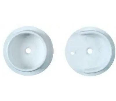 National Hardware N154-567 Closet Pole Socket Set 1-3/8 Inch White Plastic