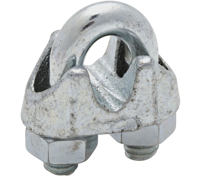 National Hardware N248-294 N268-482 Wire Cable Clamp 1/4 Inch Zinc Plated Malleable Iron Bulk