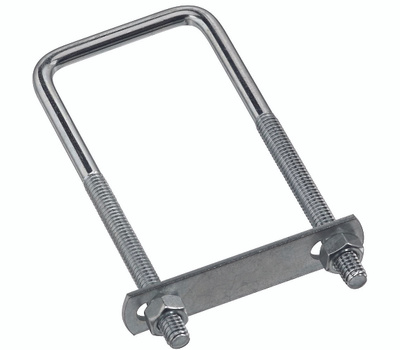 National Hardware N222-364 N134-250 Square U-Bolt, Plate & Nuts #535 5/16 By 2 By 5 Inch Zinc Plated Steel