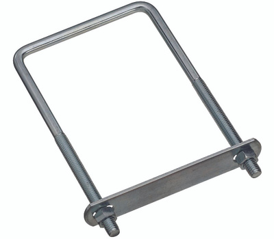 National Hardware N222-406 Square U-Bolt, Plate & Nuts #677 3/8 By 4 By 7 Inch Zinc Plated Steel