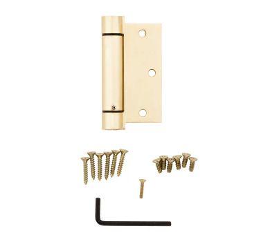 National Hardware N184-556 Spring Door Hinge 3-1/2 Inch Square Corner Brass