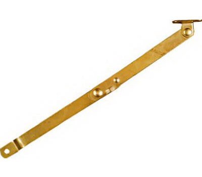 National Hardware N208-629 Folding Support Right Handed 9-3/4 By 1/2 Inch Bright Brass Plated Steel
