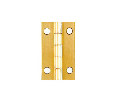 National Hardware N211-219 Narrow Craft And Hobby Hinges 1-1/2 By 7/8 Inch Bright Solid Brass 2 Pack