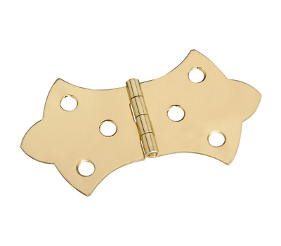 National Hardware N211-847 Decorative Cabinet Hinges 1-11/16 By 3-1/16 Inch Bright Solid Brass 2 Pack