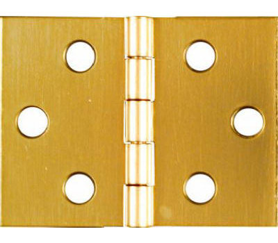 National Hardware N211-870 Desk Hinges 1-1/2 By 2 Inch Bright Solid Brass 2 Pack