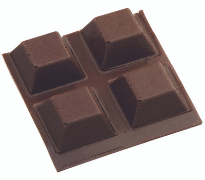 National Hardware N225-425 Square Bumper Self Adhesive 1/2 Inch Brown 8 Pack