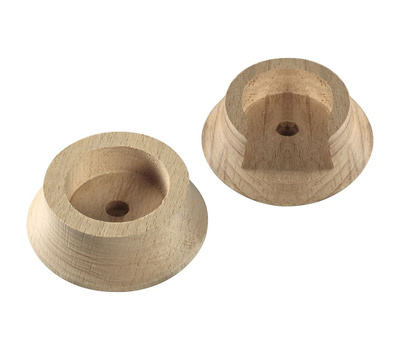 National Hardware N262-972 N287-137 Closet Pole Socket Set For 1-3/8 Inch Poles Natural Wood