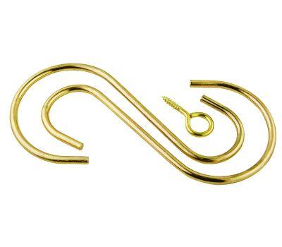 National Hardware N275-172 Extension Hook Kit 6 Inch Brass