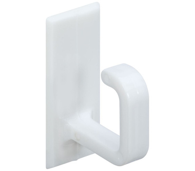 National Hardware N308-106 Self Adhesive Cup Hooks White Plastic 6 Pack
