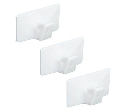 National Hardware N308-122 All Purpose Self Adhesive Plastic Hooks Medium White 3 Pack