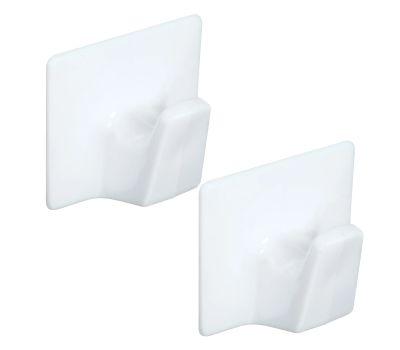 National Hardware N308-130 All Purpose Self Adhesive Hooks White Large 2 Pack