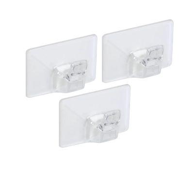 National Hardware N308-163 Medium Household Hooks Clear 3 Pack