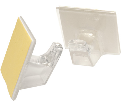 National Hardware N308-171 Large Plastic Adhesive Hooks Clear 2 Pack