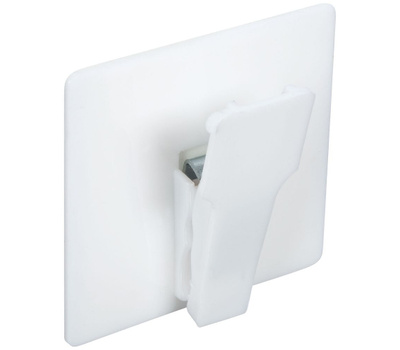 National Hardware N308-262 Self Adhesive Spring Clips White 2 Pack