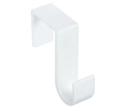 National Hardware N308-288 S752-020 Over The Door Single Hanger White Plastic Hook
