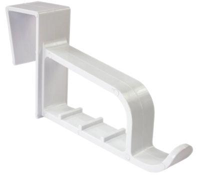 National Hardware N308-296 Over The Door Plastic Extended Mini Closet Hook White Plastic