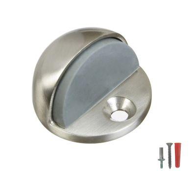 National Hardware N325-621 N325-324 Low Rise Dome Floor Mount Door Stop Satin Nickel