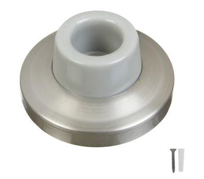 National Hardware N326-991 Concave Wall Door Stop 2-3/8 Inch Satin Nickel On Brass