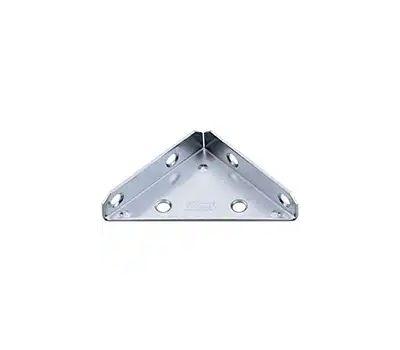 National Hardware N337-683 Reinforced Triangle Corner Braces 3 Inch Zinc Plated Steel 2 Pack