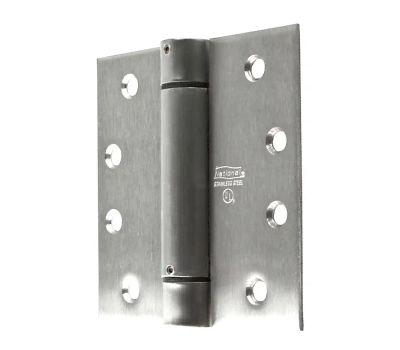 National Hardware N350-819 Spring Door Hinge 4 Inch Square Corner Stainless Steel