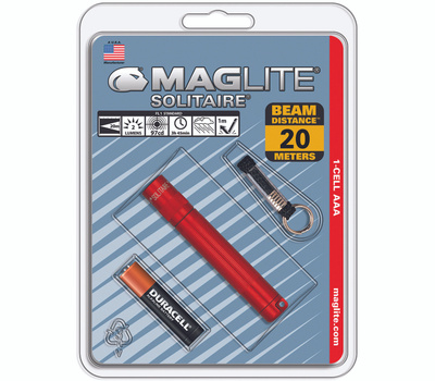 Mag Instrument LK3A036 Maglite Aaa Red Flashlight