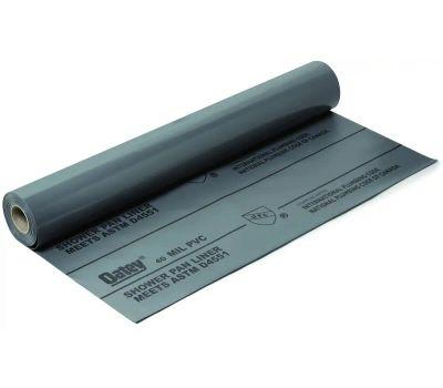Oatey 41594 Shower Pan Liner, 40 Ft L, 5 Ft W, Pvc, Gray