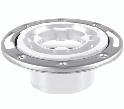 Oatey 43553 Closet Flange, 3, 4 in Connection, Pvc, White, for: Most Toilets