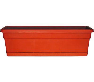 True Temper WB3012TC Southern Patio Window Box Planter, 29-3/4 in W, 8 in D, Plastic, Terracotta