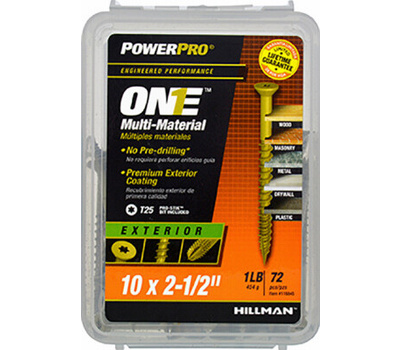 Hillman 116845 Exterior Flat Head Star Drive #10 By 2-1/2 Inch Multi Material Screws Bronze Epoxy 786 Pack