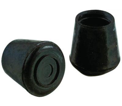 Shepherd Hardware 9125 5/8 Inch Rubber Leg Tips Black 4 Pack