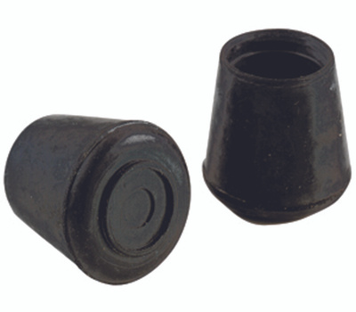 Shepherd Hardware 9129 1-1/8 Inch Rubber Leg Tips Black 4 Pack