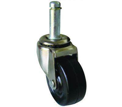 Shepherd Hardware 9193 2 Inch Rubber Wheel Swivel Grip Ring Stem