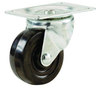 Shepherd Hardware 9480 4 Inch Rubber Wheel Swivel Plate Caster