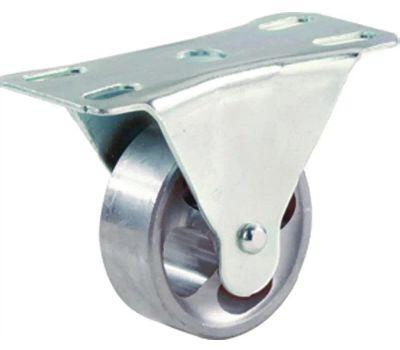 Shepherd Hardware 9783 4 Inch Cast Iron Rigid Wheel Plate Caster