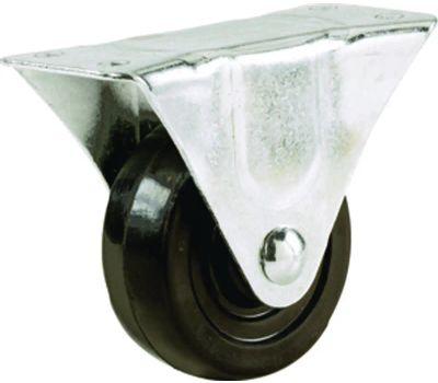 Shepherd Hardware 9789 5 Inch Rubber Wheel Rigid Plate Caster